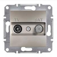 Розетка телевизионная - спутник TV-SAT оконечная, бронза, Sсhneider Electric Asfora Шнайдер Асфора