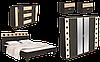 Спальня с большим шкафом и комодом Айнур
