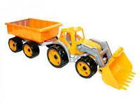 Трактор с ковшом и прицепом Технок 3688