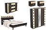 Спальня с малым шкафом и комодом Айнур