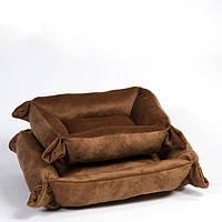 Лежак Природа Трансформер 2, вельбо и кашемир, 54х66х20 см, фото 1