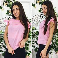 Летняя блузка в горошек