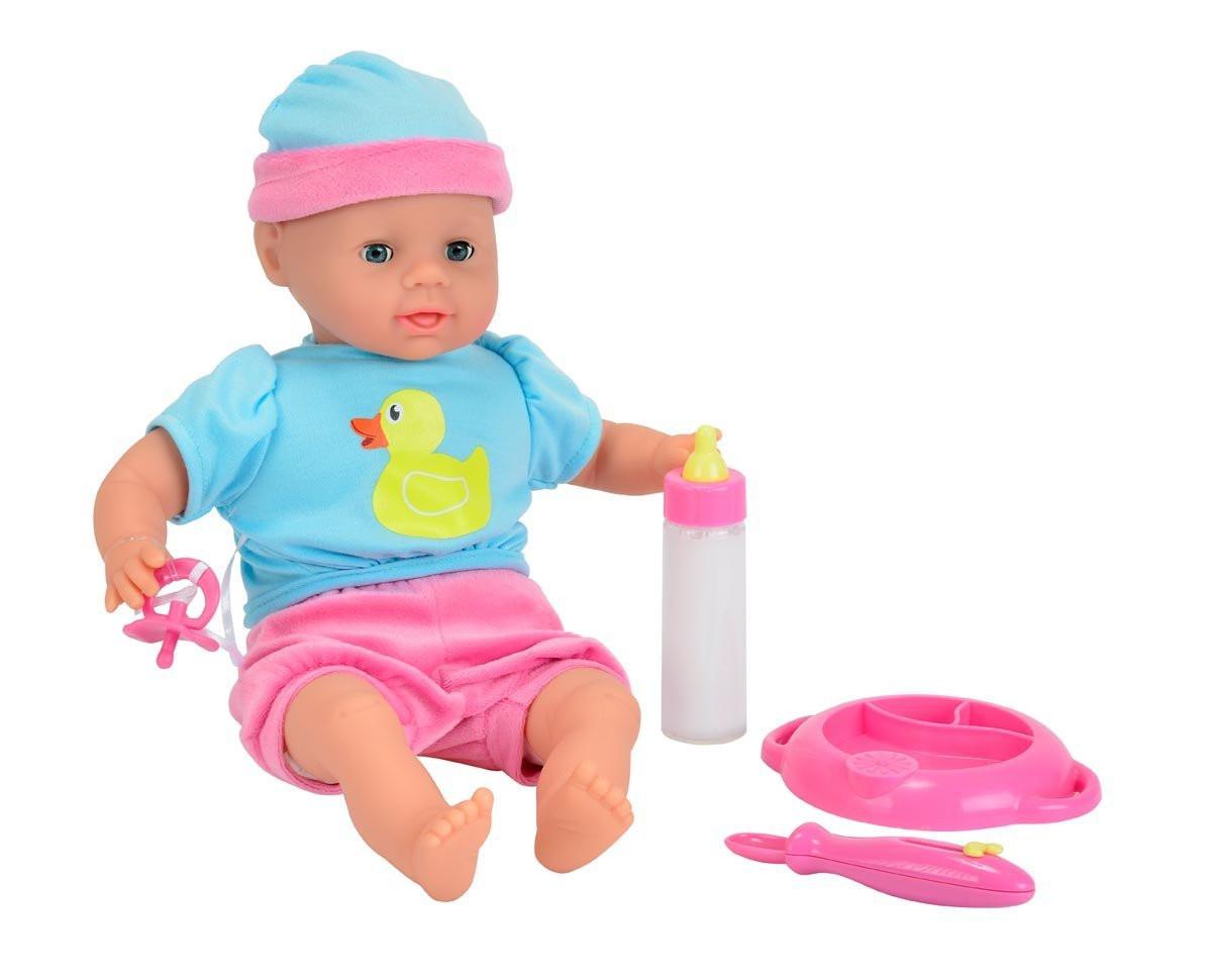 Лялька Пупс Лаура з набором для годування Simba 5010964