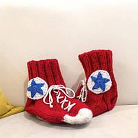 Оригинальные вязанные носки-кеды (ручная работа)