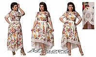 Летнее платье Кармен (размеры 50-54)
