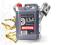 Тормозная жидкость Motul DOT 3&4 Brake Fluid 5L
