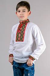 Вышиванка для мальчика белая длинный рукав хлопок  (Украина)