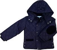 Демисезонная куртка для мальчика ТМ Deli синяя размеры 86