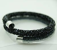 Модные украшения на руку. Браслеты- кольца или жгуты из стекляруса 1136