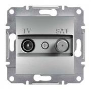 Розетка телевизионная - спутник TV-SAT проходная 4 dB, алюминий, Sсhneider Asfora Шнайдер Асфора