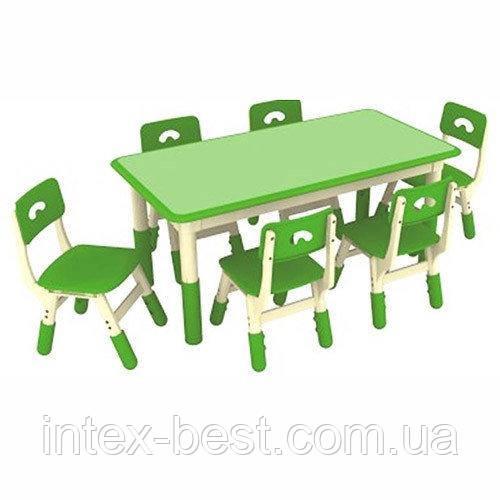 Детский столик со стульчиками TABLE3-4 (Зеленый)