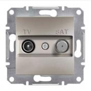 Розетка телевизионная - спутник TV-SAT проходная 8 dB, бронза Sсhneider Asfora Шнайдер Асфора