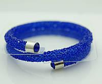 Синие браслеты- кольца или жгуты из стекляруса 1138