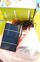Светодиодная лампочка-фонарь LED + солнечная панель