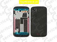 Корпус HTC T328w Desire V, чёрный, оригил (Китай)
