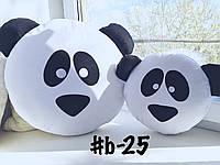 Большая  подушка-смайлик панда #b-25