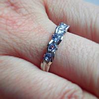 Серебрянное кольцо с танзанитами