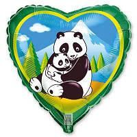 """Шар с рисунком 18"""" панды с гелием"""