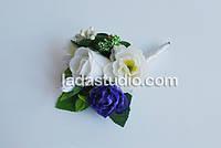 Свадебная бутоньерка для свидетеля, ручная работа, на заказ, любые цветы