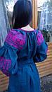 Вышитое платье  бохо вышиванка лен, этно, стиль бохо шик, вишите плаття вишиванка, Bohemian,стиль Вита Кин, фото 9