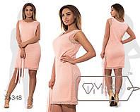 """Стильное платье с короткой накидкой для пышных дам """" Платье + короткая накидка """" Dress Code"""