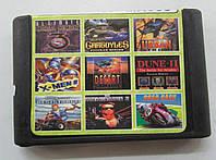 Картридж сборник игр Сега 16 бит MA908(русская версия)9 IN 1