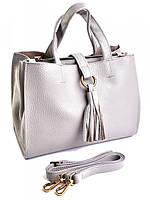 Кожаная женская сумка 80555 Gray