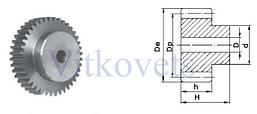 Зубчастая шестерня FM  1.5 модуль 17mm -40зуб, фото 3
