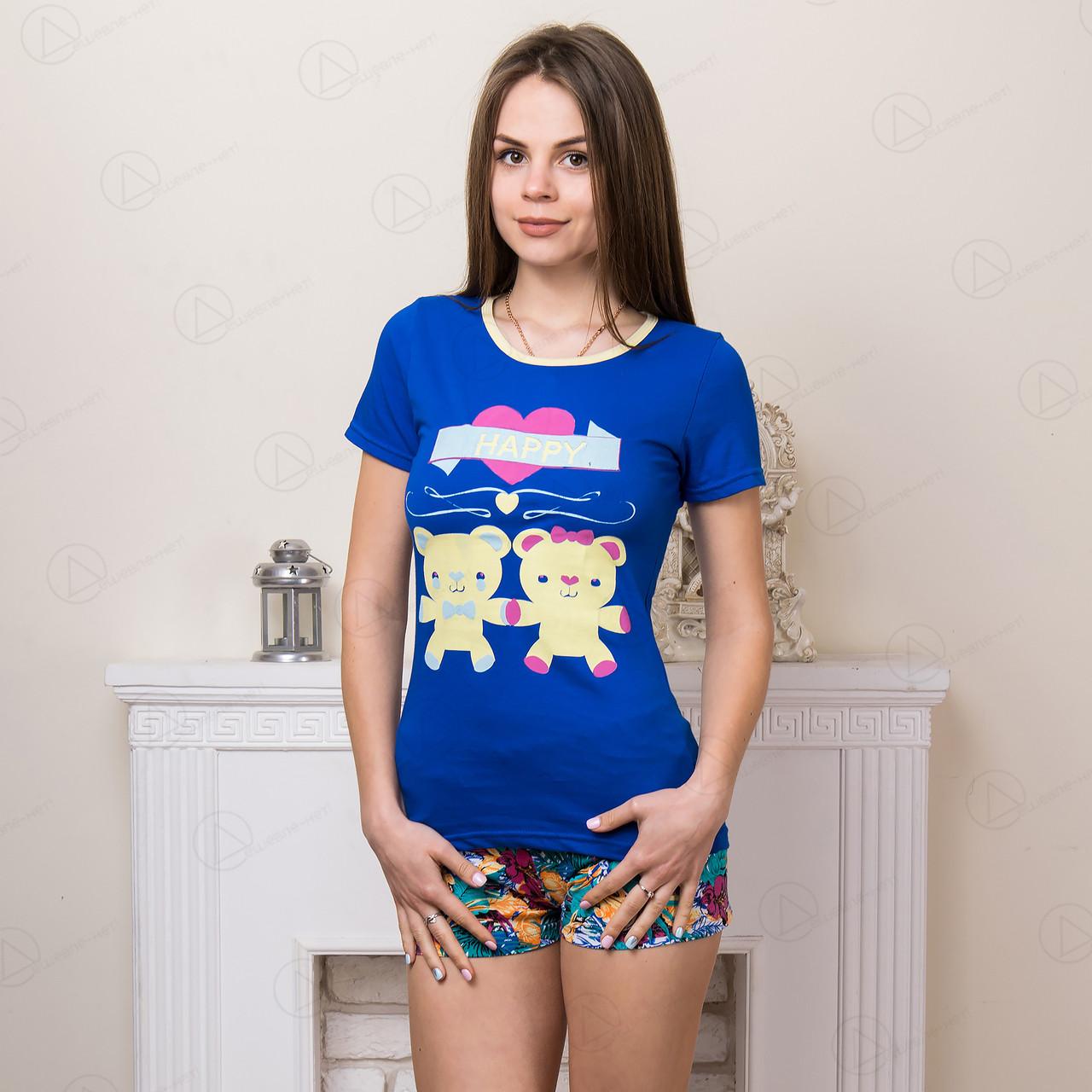 Домашний комплект-двойка женский: футболка и шорты Moda Love Турция MDLV-17261