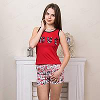 Комплект-двойка женский: майка и шорты с принтом Love Moda Love Турция MDLV-17348