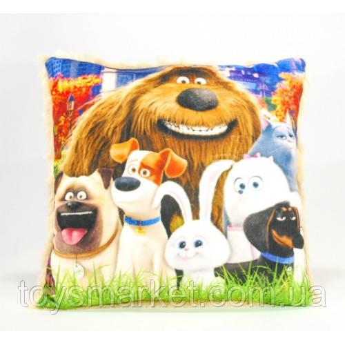 Детская подушка, Тайная жизнь домашних животных, коричневая