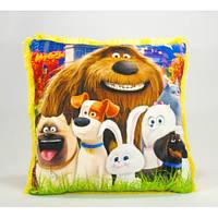 Детская подушка, Тайная жизнь домашних животных, желтая