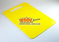 Доска разделочная 31х21см пластиковая желтого цвета