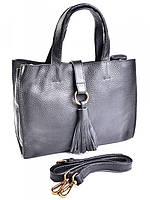 Кожаная женская сумка 80555 Black