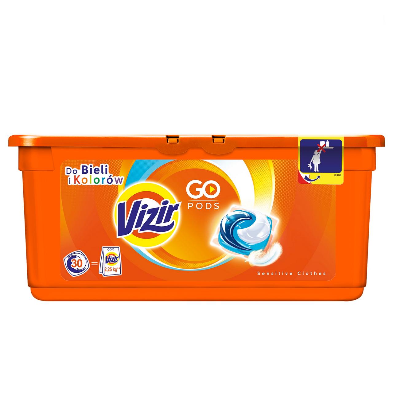 Гелеві капсули для прання Vizir Sensitive 3в1 30 шт.