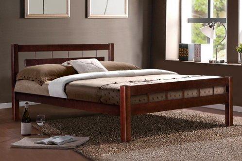 Кровать  двуспальная деревянная  Альмерия 160*200  Микс мебель,  цвет орех / каштан