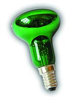 Лампа рефлекторная Lemanso R-50  40W зелённая