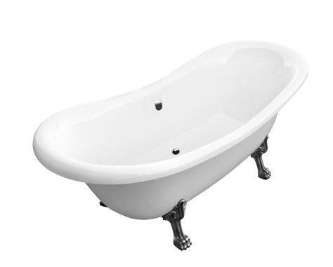 Ванна акриловая Besco AMELIA 190 х 77  c ногами хром