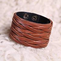 Кожаный коричневый браслет «Дакота»