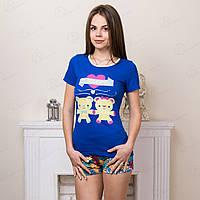 Домашний комплект-двойка женский: футболка и шорты Moda Love Турция MDLV-17261 распродажа домашней одежды (3 ед. в упаковке)