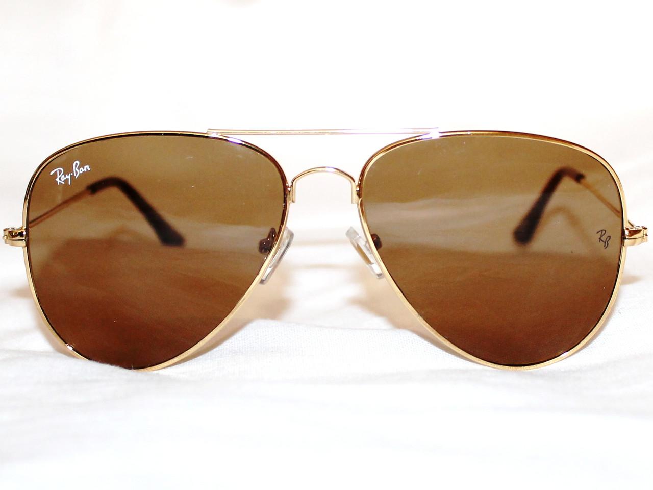 689f11674a68 Очки Ray Ban AVIATOR 3026 золото коричневый стекло реплика - IF-Style в  Одессе