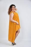 Женское летнее платье разлетайка 0515 цвет горчица размер 42-74 / большого размера, фото 4