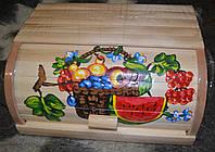 Хлібниці дерев`яні розмальовані -  Кавун .