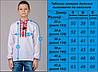 Сорочка вышиванка для мальчика белая длинный рукав хлопок  (Украина), фото 6