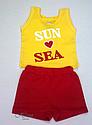 """Комплект літній """"Sun and Sea"""" (майка і шорти) для дівчинки (Няня, Україна), фото 3"""