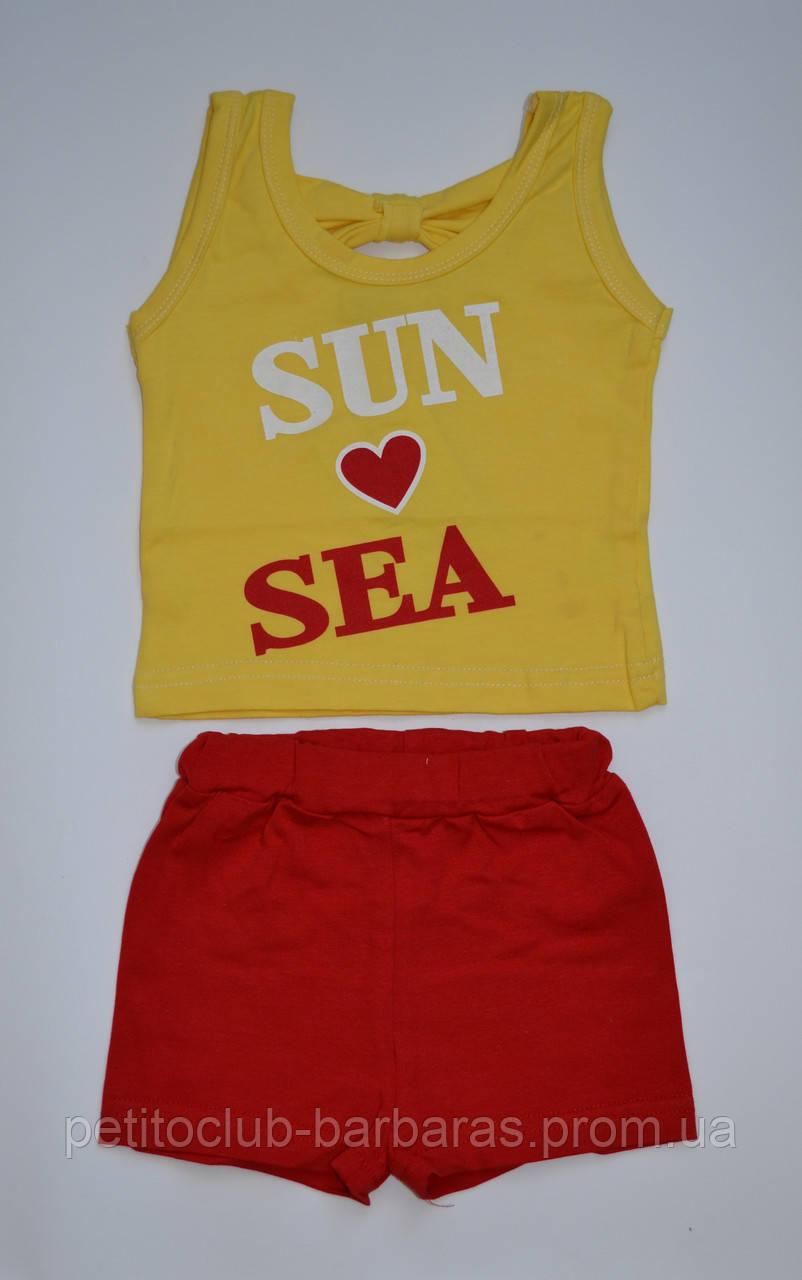 """Комплект літній """"Sun and Sea"""" (майка і шорти) для дівчинки (Няня, Україна)"""