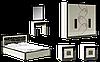 Спальня Алия со шкафом 4Д и туалетным столик 670
