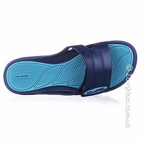 Женские сланцы на липучках синие Calypso, фото 2