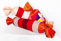 """Декоративная подушка-валик """"Большая конфетка"""" розовая, фото 1"""