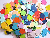 Высечки из бумаги. Цветок пятилепестковый, 50 штук, 24х24 мм